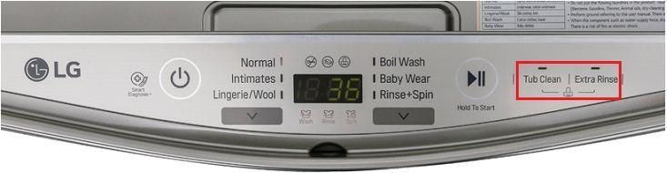 Tính năng khóa trẻ em trên máy giặt LG T2735NWLV