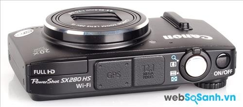 Máy ảnh compact Canon PowerShot SX280 HS được trang bị cảm biến BSI-CMOS kích thước 1/2.3
