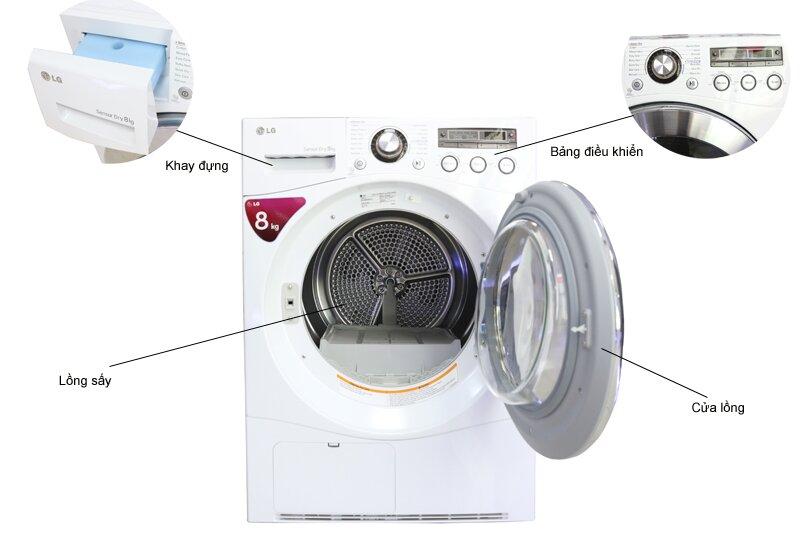 Máy sấy khô quần áo LG được nhiều người dùng tin tưởng sử dụng