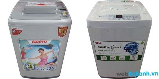 Sanyo ASW-S68X2T và LG WFC7417B (nguồn: internet)