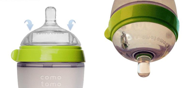 Chọn bình sữa có van thông khí chống sặc đối với trẻ sơ sinh