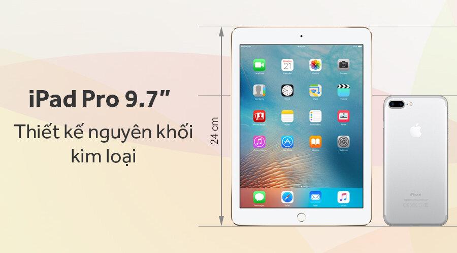 iPad Pro 9.7 với thiết kế nguyên khối kim loại
