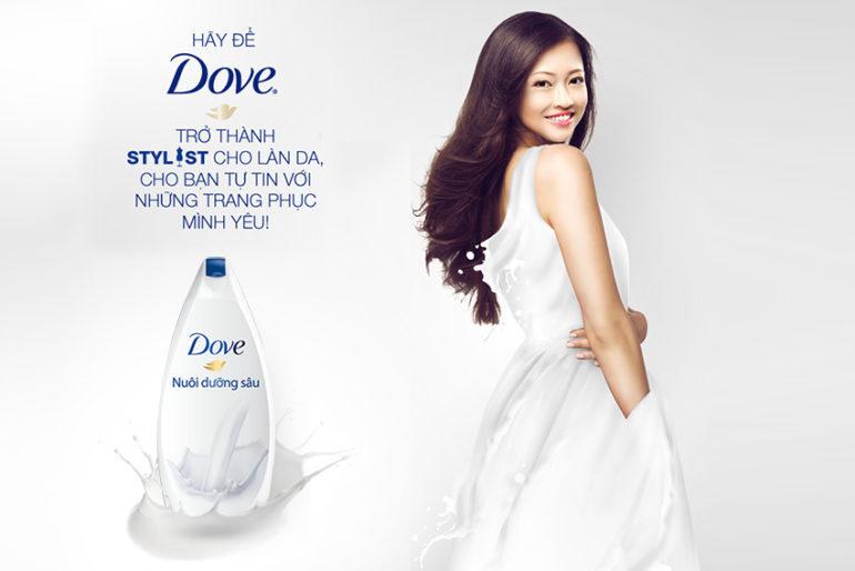 Sữa tắmDove dưỡng ẩm sâu bao gồm các nhãn Deeply Nourishing, Deep Moisture và Rich Care