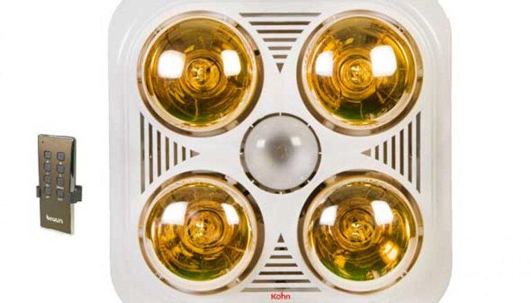 Đèn sưởi nhà tắm âm trần Kohn của thương hiệu Braun