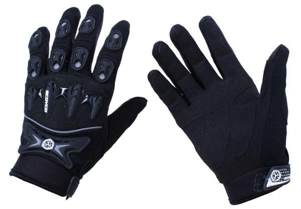 Mặt trong găng tay và các miếng bảo vệ các khớp ngón tay ở mặt trên
