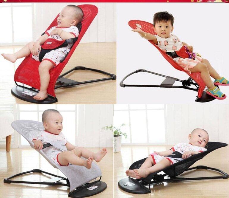 Ghế rung dạng lưới cho bé rất đa dạng mẫu mã, thiết kế