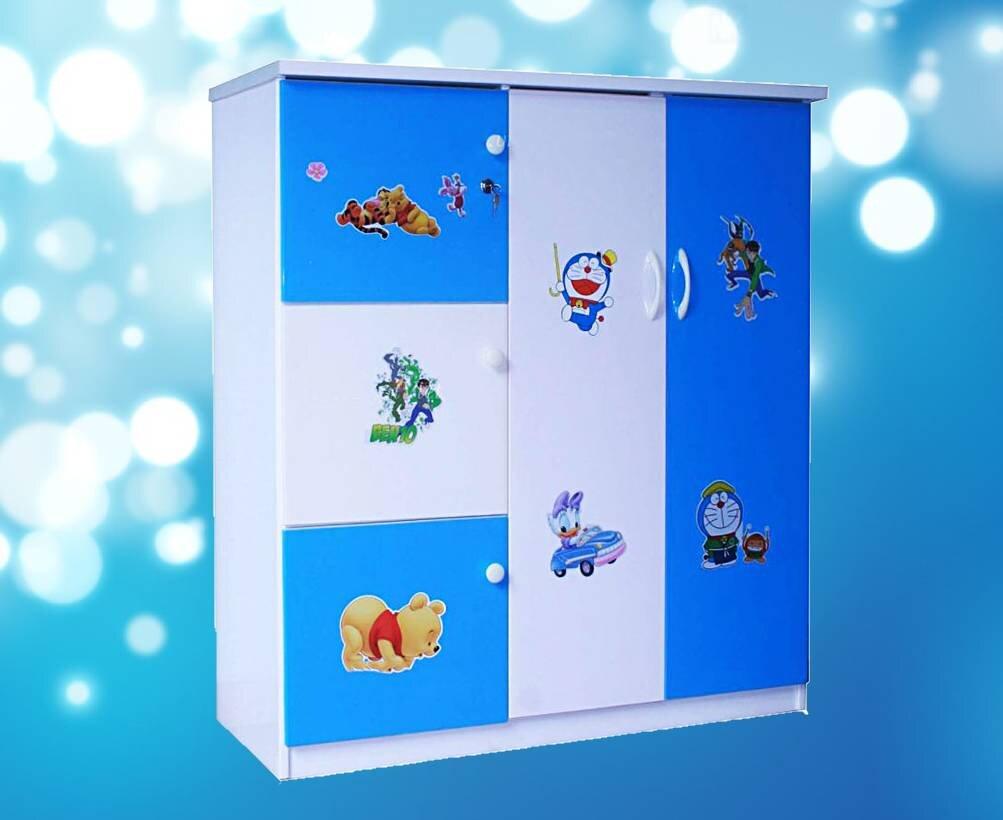 Tủ nhựa với gam màu trung tính thích hợp cho cả bé trai lẫn bé gái năng động, cá tính
