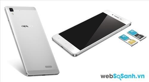 Oppo R7 Lite có một kết nối khá hoàn chỉnh đã được trang bị tính năng Dual SIM (Micro SIM, Nano SIM)