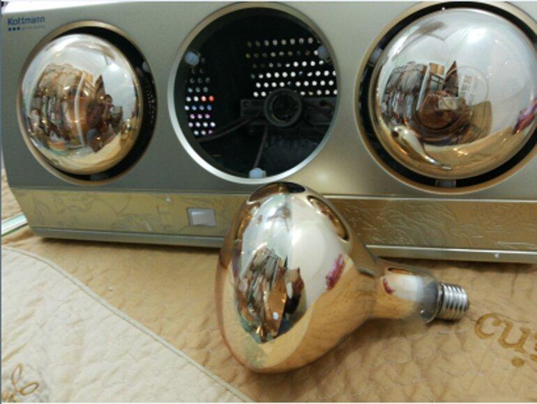 Vệ sinh đèn sưởi nhà tắm giúp tăng tuổi thọ cho đèn sưởi nhà tắm