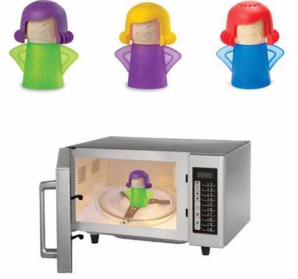 Vệ sinh lò vi sóng với Angry Mama Microwave Cleaner