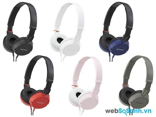 Tai nghe Sony MDR-ZX100 với các màu khác nhau