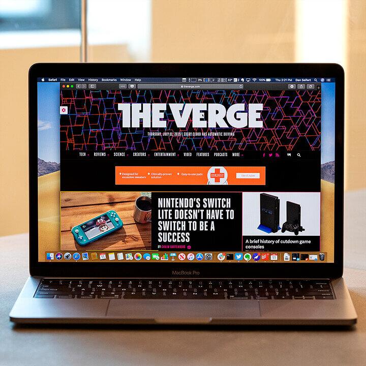 Màn hình ấn tượng của Apple Macbook Pro 2019