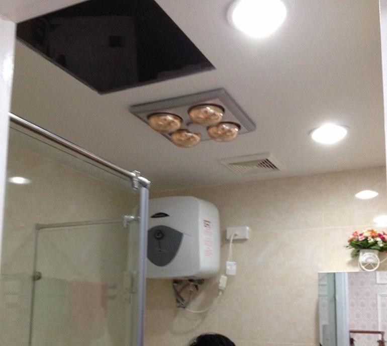 Đèn sưởi nhà tắm âm trần tiết kiệm không gian phòng tắm cho bạn.