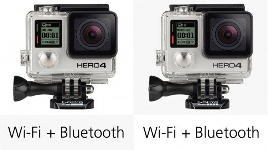 The new Hero4 cameras benefit from Bluetooth connectivity in addition to the built-in Wi-F...