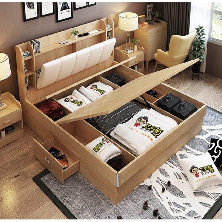giường ngủ hiện đại nhiều tính năng