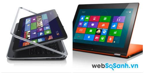 Dell XPS 12 và Yoga 13. Nguồn Internet.