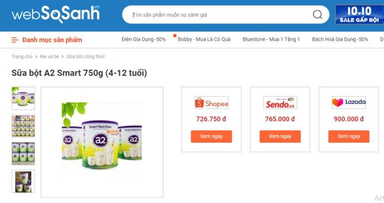 Giá sữa a2 Smart Nutrition trên thị trường hiện nay đang khá cao