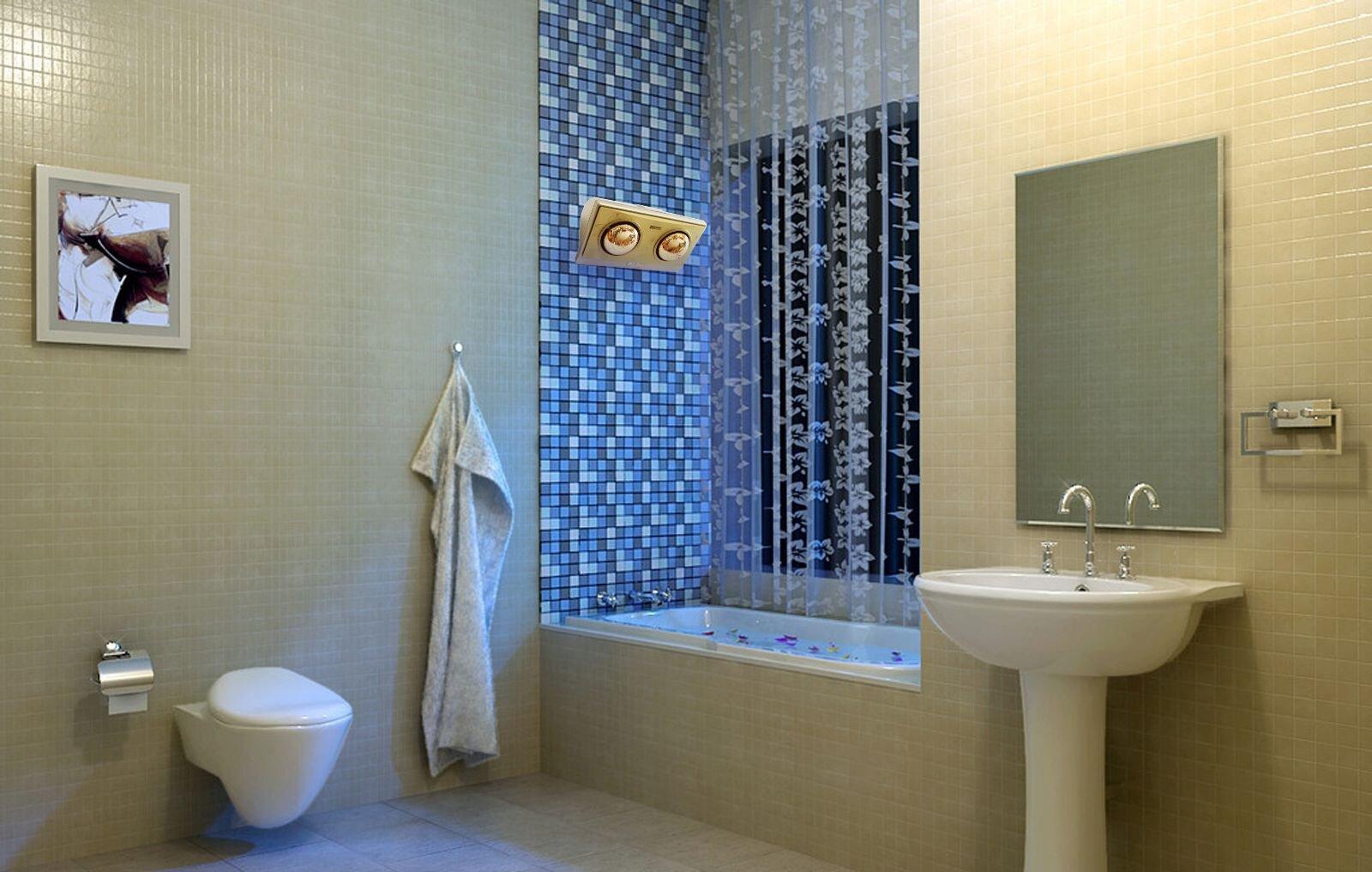Sử dụng đèn sưởi hồng ngoại cho nhà tắm nhiều người còn băn khoăn nên hay không nên?