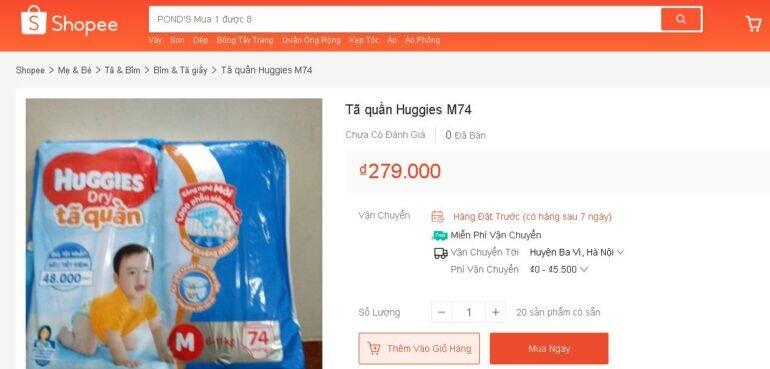 Mua tã quần Huggies size M 74 miếng cho con ở đâu rẻ nhất?