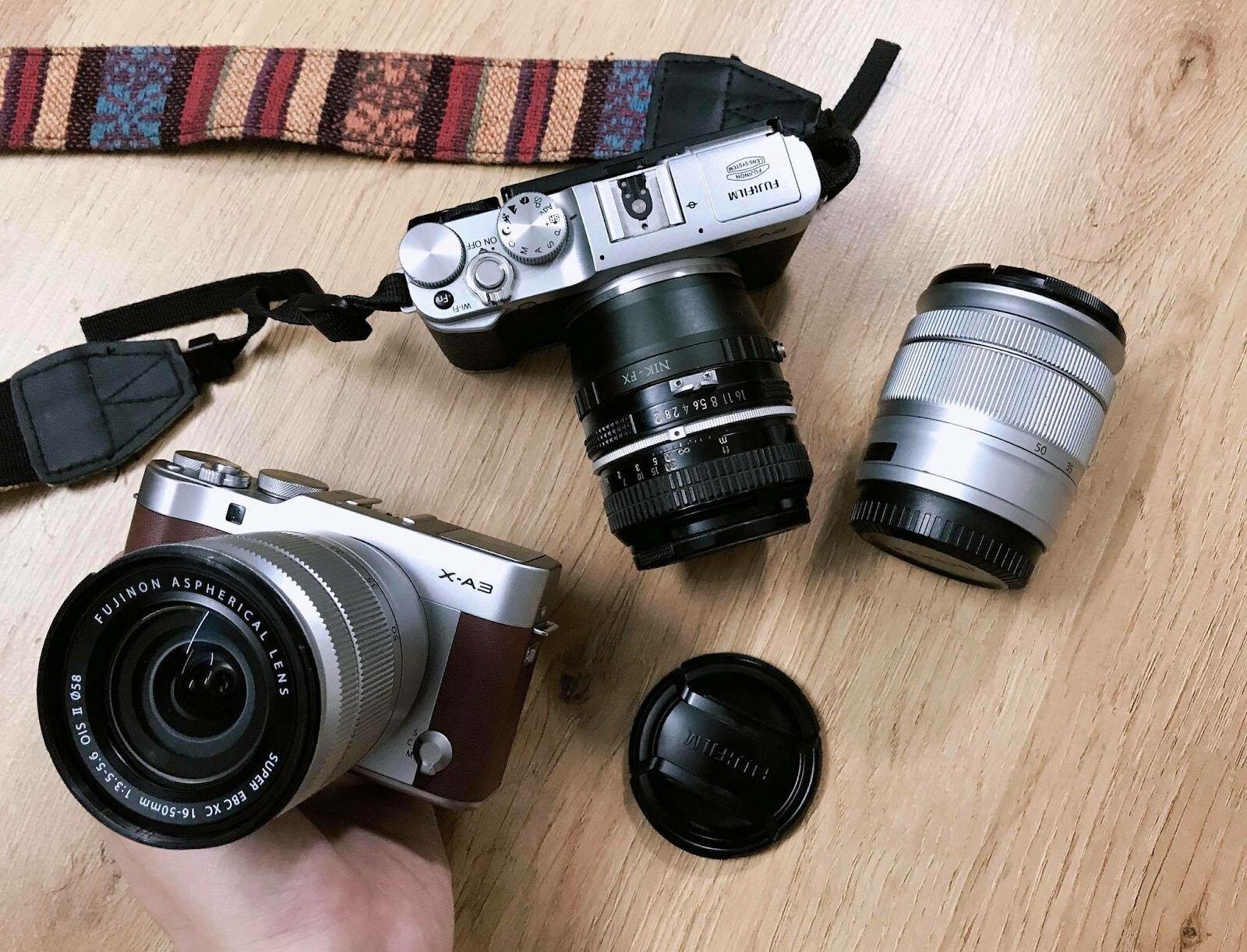 Bộ sưu tập các mẫu máy ảnh Fujifilm X-A3