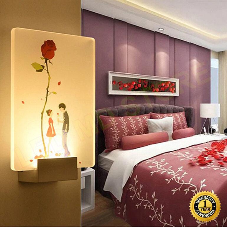 Đèn ngủ gắn tường cho phòng cưới ấm cũng và hiện đại