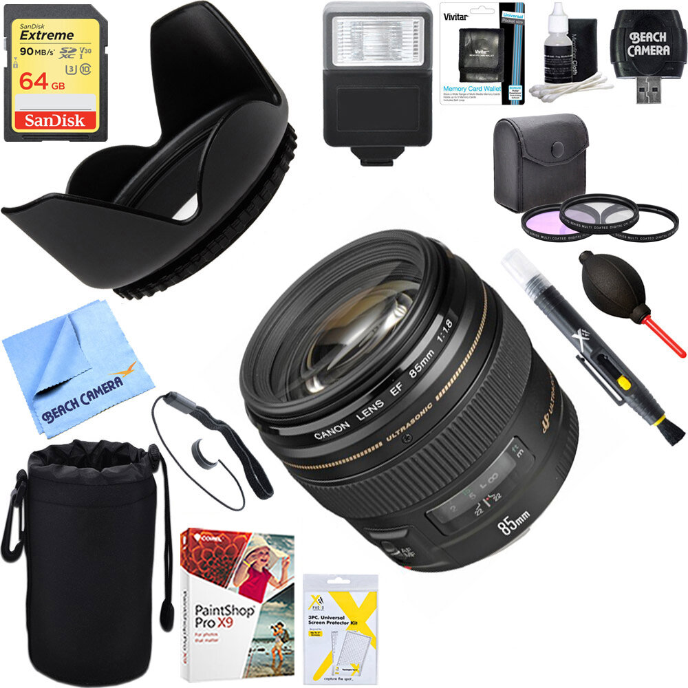 Lens EF85mm f/1.8 USM chất lượng tốt, giá vừa phải