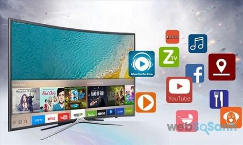 Bạn có thể tận hưởng kho ứng dụng khổng lồ trên tivi 4K Samsung