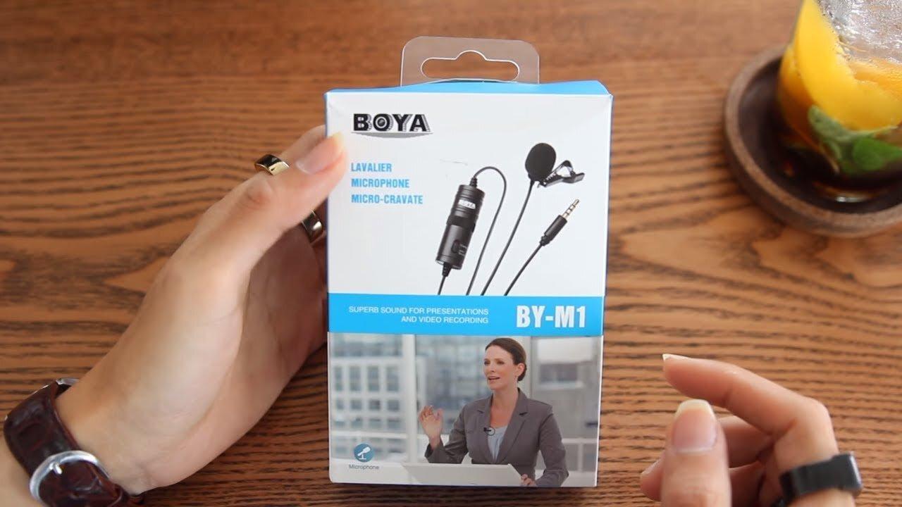 Bộ thu Micro thu âm mini cài áo Boya nhạy bén