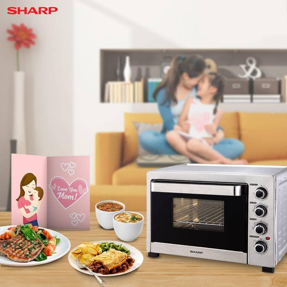 Lò vi sóng của hãng Sharp đa tính năng giúp chế biến nhiều món ngon, hấp dẫn nhanh chóng