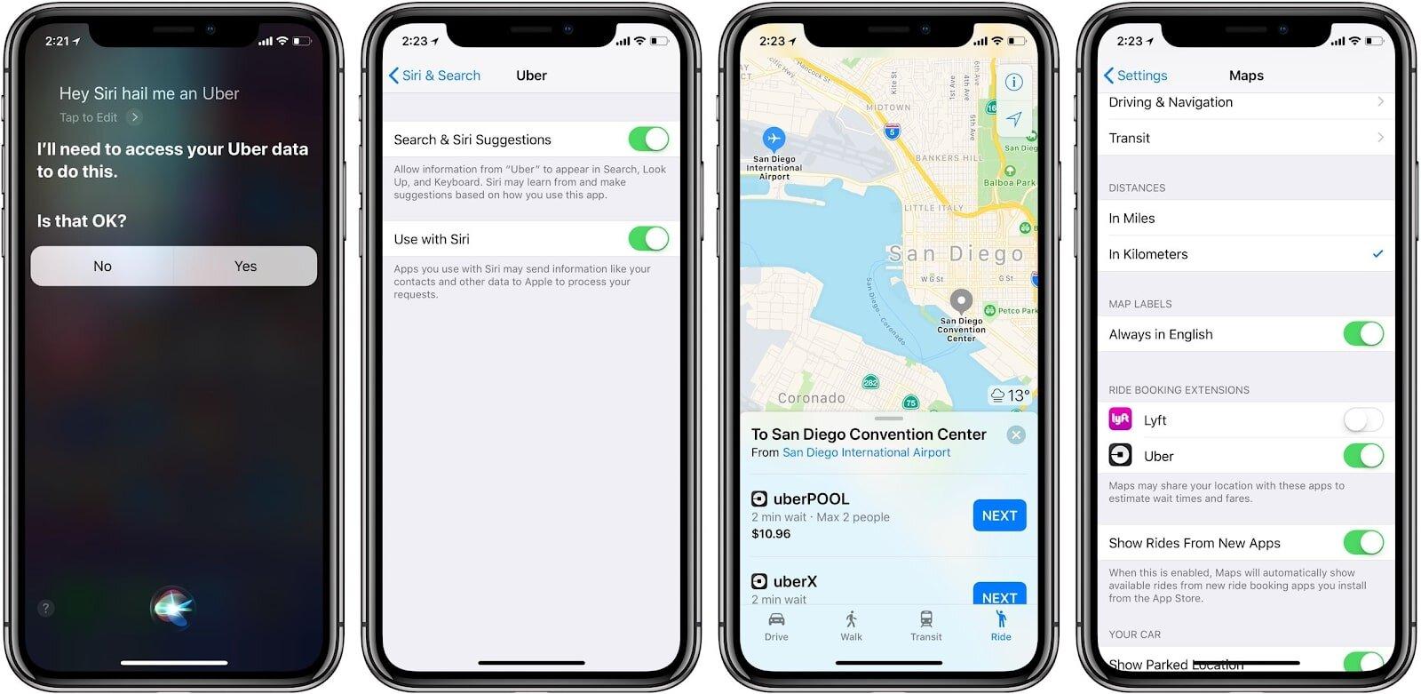 Siri có thể chỉ đường cho bạn