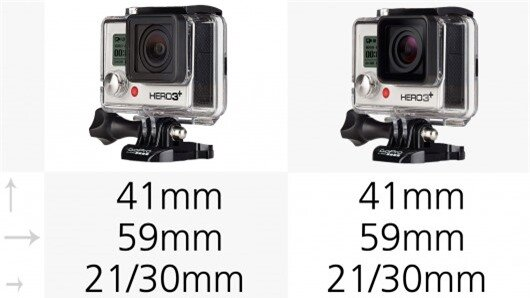 The GoPro Hero3+ and Hero4 cameras all come with the full standard housing (pictured) whic...