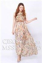 Đầm maxi (có 5 màu) voan hoa xếp li đi biển 521075 - Shop bán sỉ quần áo thời trang Title Vàng