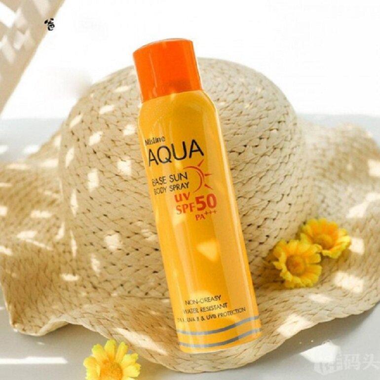 Kem Chống Nắng dạng xịt Mistine Aqua Base Sun Body Spray