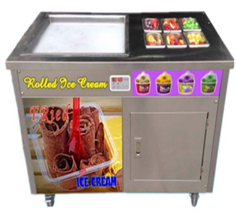 Máy làm kem cuộn là gì?