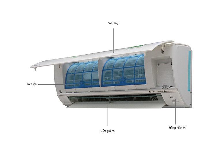 Điều hòa panasonic 1 chiều 12000btu inverter S12RKH-8