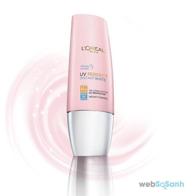 review kem chống nắng L oreal uv perfect instantwhite