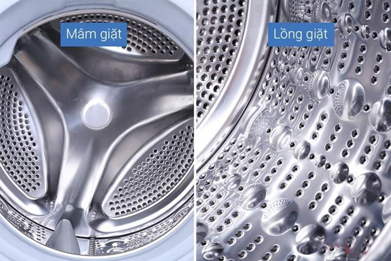 Máy giặt LG FC1408s4W2 giặtít nhăn và không hại quầnáo