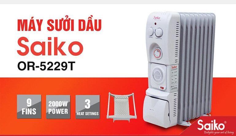 Máy sưởi dầu Saiko sưởi ấm tốt và đem lại cảm giác dễ chịu cho người sử dụng.Máy sưởi dầu Saiko sưởi ấm tốt và đem lại cảm giác dễ chịu cho người sử dụng.