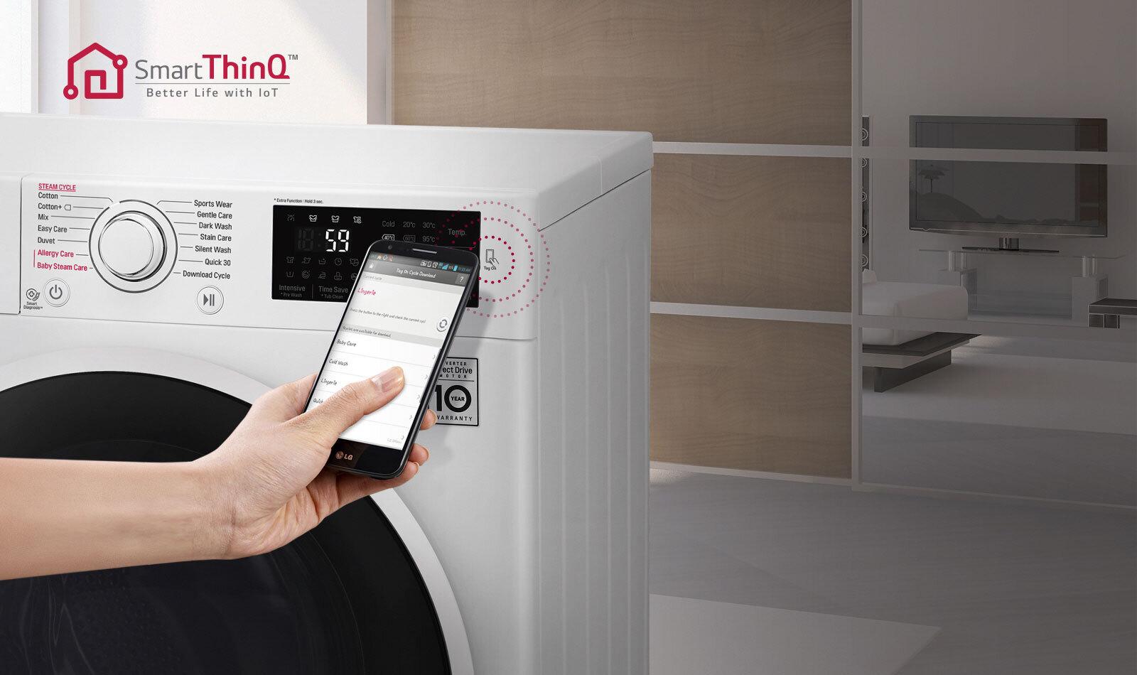 Máy giặt LG 8kg FC1408S4W2 mang đến cho người dùng sự tiện lợi tối ưu nhất