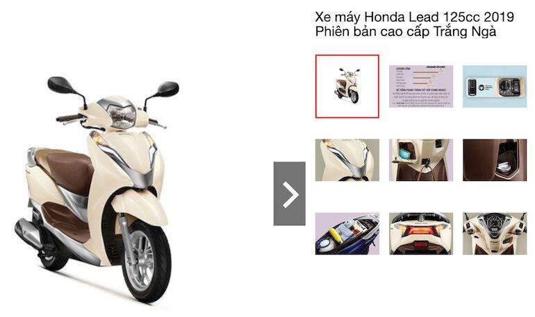 Xe máy Honda Lead 125cc 2019 Phiên bản cao cấp Trắng Ngà