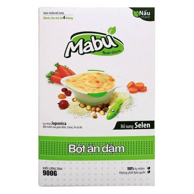 Bột ăn dặm cho bé 6 tháng tuổi Mabu