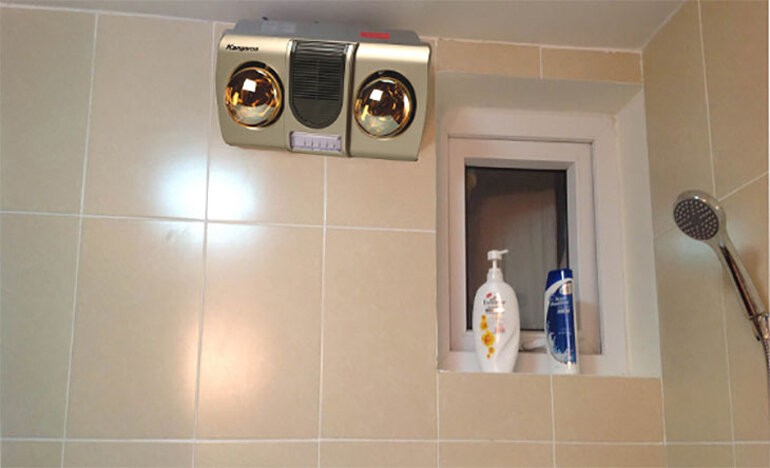 Lắp đặt đèn sưởi nhà tắm đúng kỹ thuật