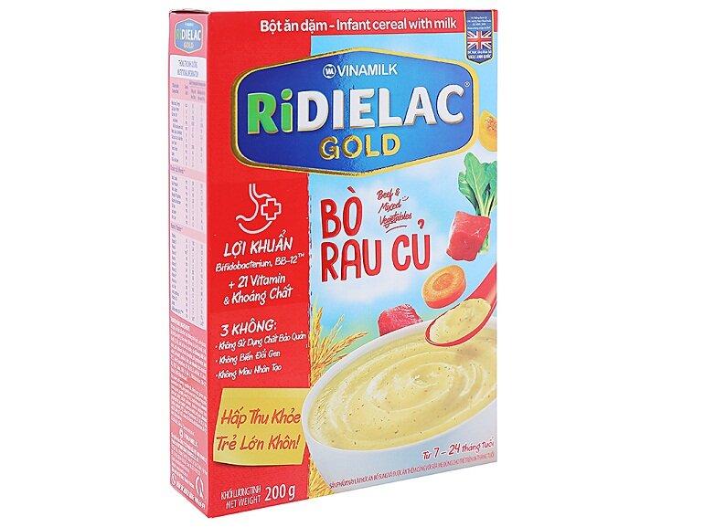 Bột ăn dặm Ridielac là sản phẩm nổi bật của thương hiệu Công ty Cổ phần Sữa Việt Nam