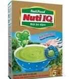 Bột ăn dặm vị ếch, mùng tơi NutiFood Nuti IQ - hộp 200g (dành cho trẻ từ 6-24 tháng tuổi)