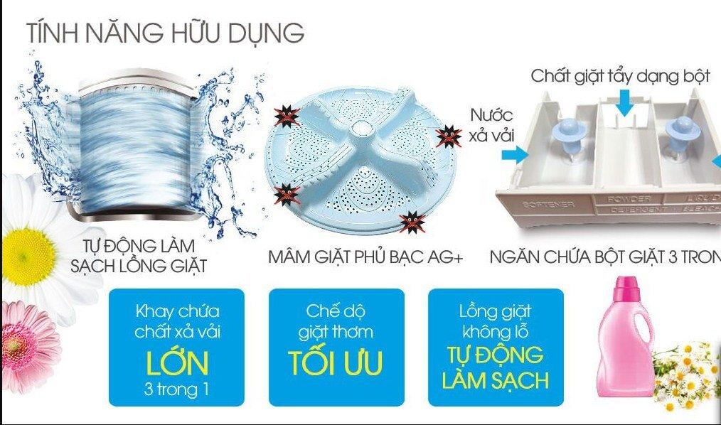 Máy giặt Sharp đa dạng về dung tích giặt