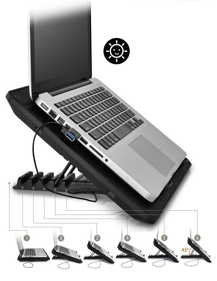 Cánh quạt phải được bố trí phù hợp với laptop