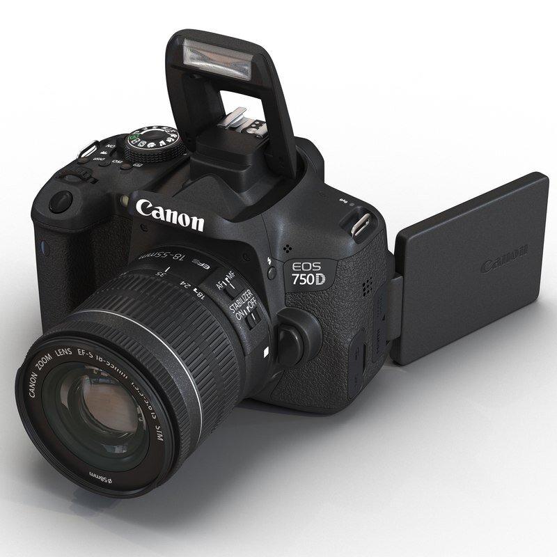 Canon 750D có ưu điểm là màn hình có thể xoay được mọi góc độ