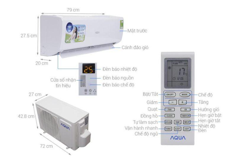 Điều hòa - Máy lạnh AQUA 1 HP AQA-KCR9JA - Giá rẻ nhất: 4.789.000 vnđ