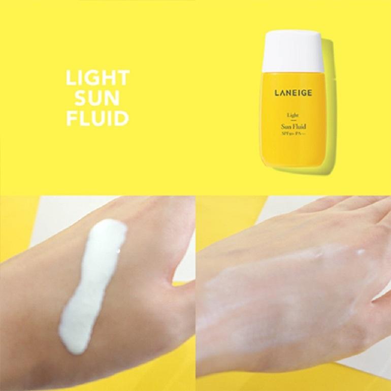 Kem chống nắng laneige Light Sun Fluid SPF 50+ PA+++