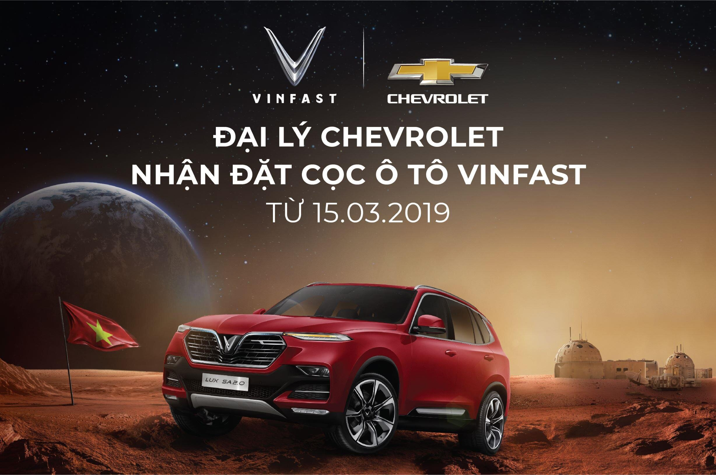 Khách hàng có thể đặt xe ô tô VinFast tại đại lý Chevrolet